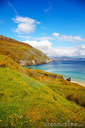 Coast at Keem Bay on Achill Island