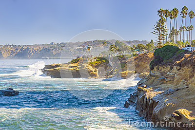 Coast of La Jolla, California Editorial Stock Image