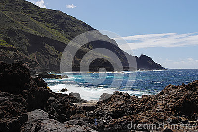 The coast of the La Palma island
