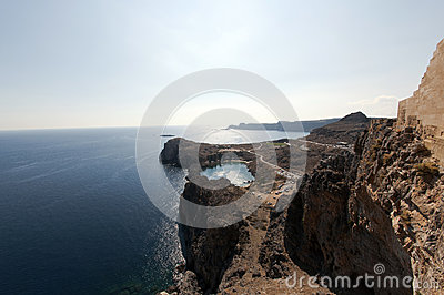 Coast of Lindos, Greece