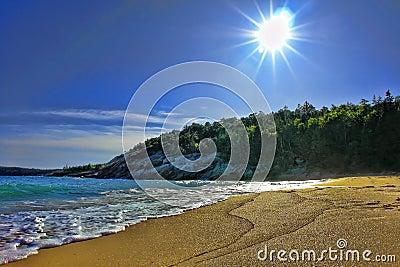 Coast of Maine Beach in Acadia National Park