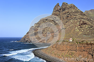 Coast and mountain of Punta del Hidalgo, Tenerife