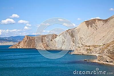 Coast nesr Kara Dag mountain