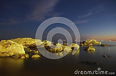 Coast night scenes