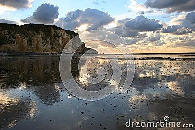 Coast in Normandy