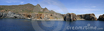 Coast of Panarea - panorama
