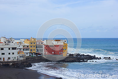 Coast in  Puerto de la Cruz, Tenerife, Spain
