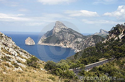 Coast road in Majorca - RAW format