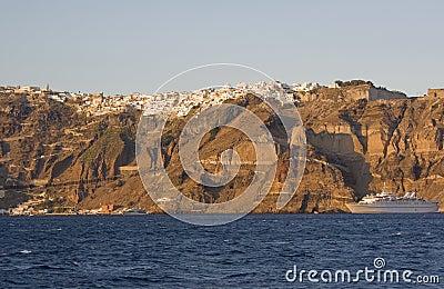 The coast of Santorini