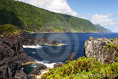 Coast on Sao Jorge island