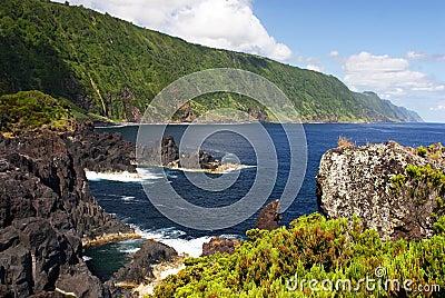 Coast on Sao Jorge island