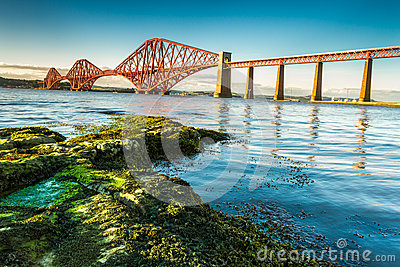 Coast in Scotland near the Firth of Forth Bridge