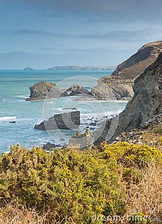 Coast of St Agnes Cornwall England UK