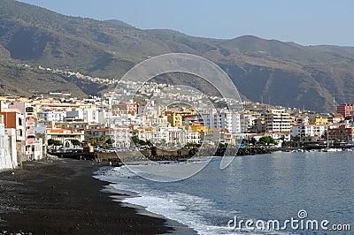 Coast of town Candelaria. Tenerife, Spain