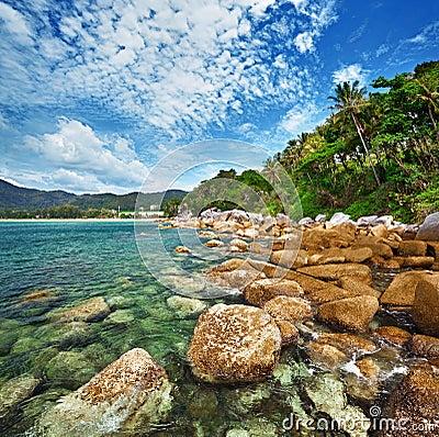 Coast of the tropical ocean - Thailand