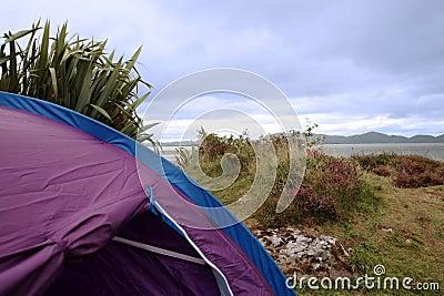 Coastal campers view