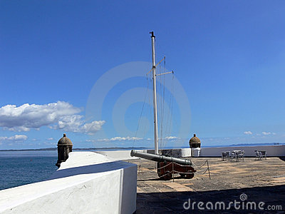 Coastal Cannon  Stock Image - Image: 2426801