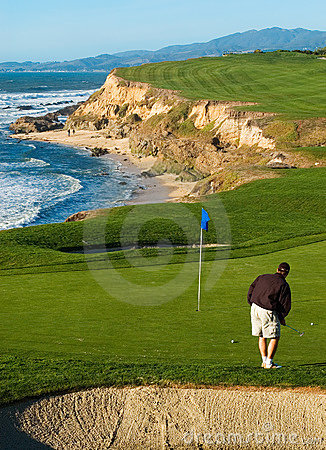 Coastal golf course