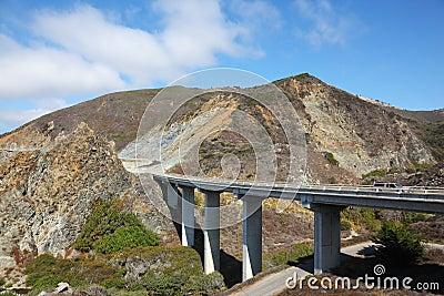The coastal highway and a bridge