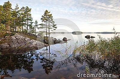 Coastal landscape, Saimaa lake, Finland