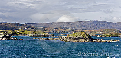 Coastal landscape on scottish isle