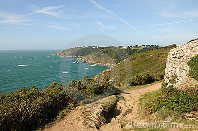 Coastal Path above Moulin Huet Bay, Guernsey