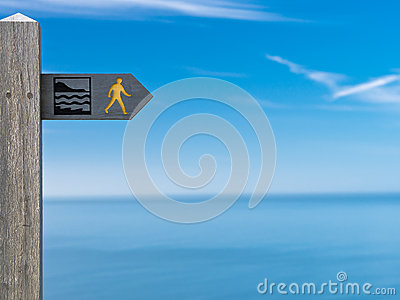 Coastal Path Sign Cardigan Bay Wales