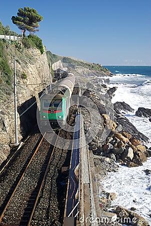 Coastal railway track