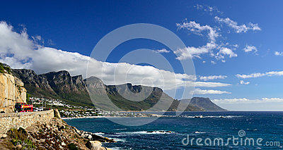 Coastal road near Camps Bay, Western Cape, South Africa