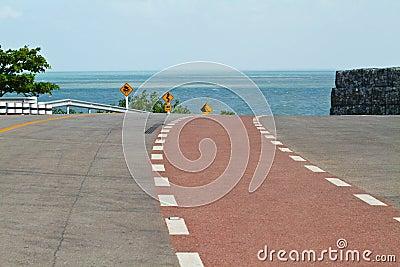 Coastal road sea at Khung Viman bay, Chanthaburi,