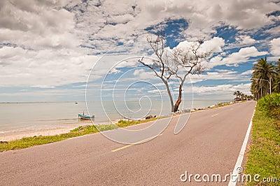 Coastal road in Thailand.