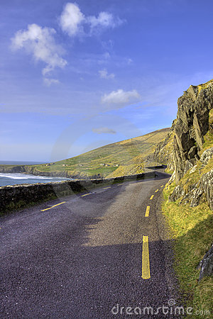 The coastal road to the dingle in ireland.