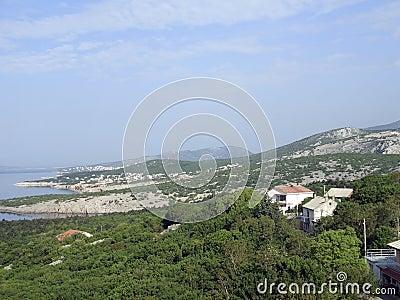 Coastal scenery in Croatia