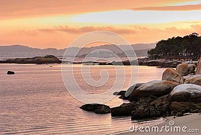 Coastal Sunset on Atlantic ocean