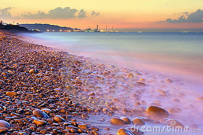 Coastal Sunset near Taipei Haobor
