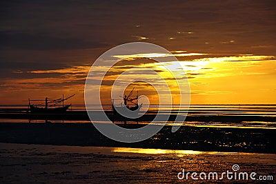 Coastal of Thailand at sunrise.
