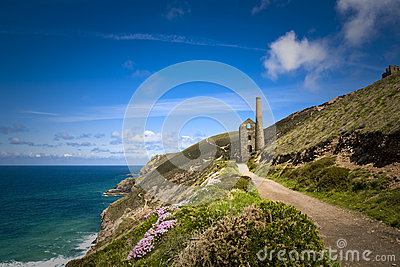 Coastal Tin Mine, Cornwall, UK