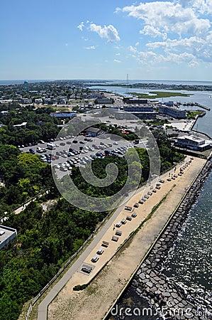 Coastal town view