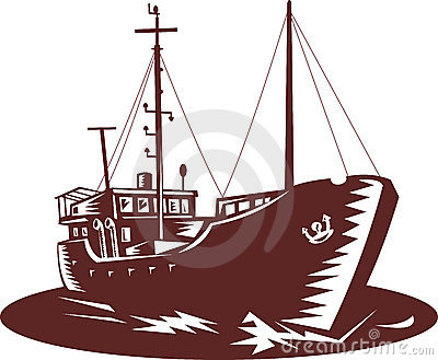 Coastal trader fishing boat