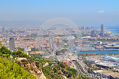 Coastal View of Barcelona