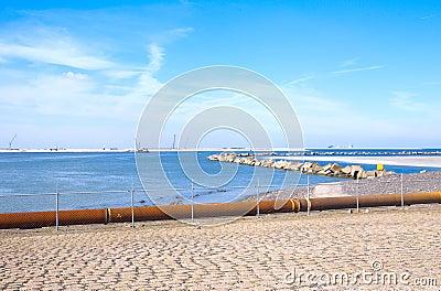 Coastal view at the maasvlakte