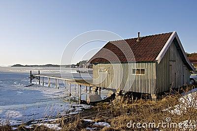 Coastal winter landscape