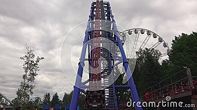 coaster prate roller vienna attractor 4K lager videofilmer