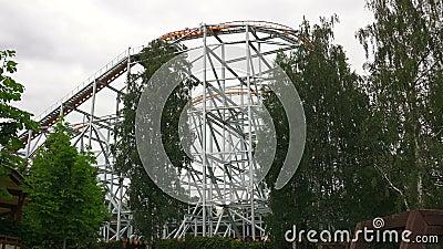 coaster prate roller vienna attractor 4K arkivfilmer