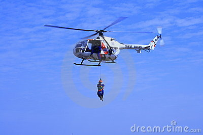 Coastguard helicopter 2 Editorial Stock Image