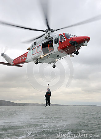 Coastguard Winch Rescue Editorial Image