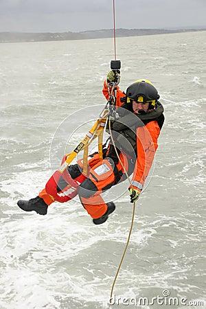 Coastguard Winchman Editorial Photo