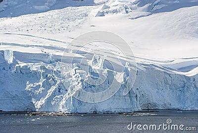 Coastline of Antarctica with ice formations