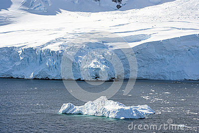 Coastline of Antarctica with ice formations