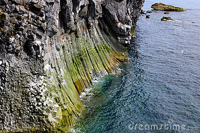Coastline, Basalt Pillars
